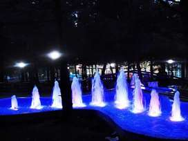 Dancing automatic fountain , waterfalls, submersible pump, sprinkler