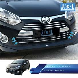 Front grill lower trim chrome toyota AGYA 2017 s/d 2019