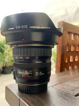 Lensa canon 20-35mn ultrasonic