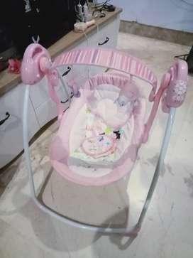 Preloved bouncer baby elle warna pink