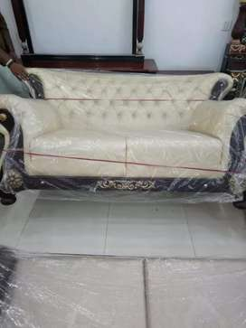 Solid wood chinioti style solid wood 6 seater sofa set