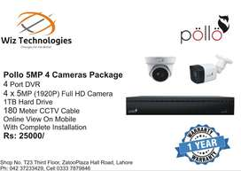 Pollo 5MP 4 Nightvision Cameras Package