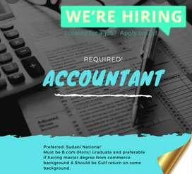 Need a  female accountant