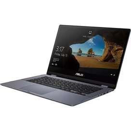 Kredit Laptop Asus Vivobook Flip TP412AU i7 8550U-8GB DDR4-256GB SSD