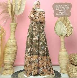 Dress Aliyah Bunga Coklat