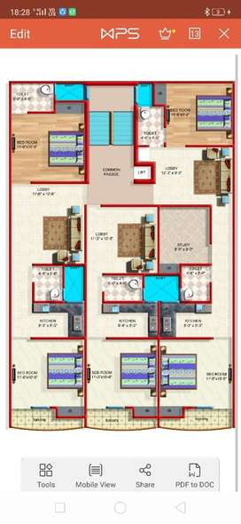 Bed , sofa , LED tv, lights ,fan, moduler kitchen, almirah etc