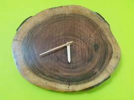Wall clock wooden