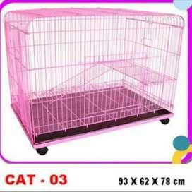 Kandang Kucing Kwalitas Tebal Merk Octagon 2 Lantai Ukuran Besar 93 cm