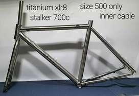 XLR8 Stalker Titanium Road Bike Frame+Fork
