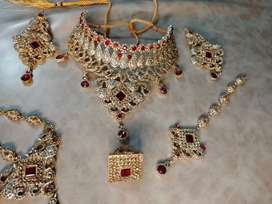 Artificial bridal jewellery complete set with bag