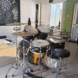 Acoustic drum set-  Black Olympic premier