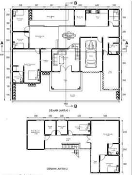 Jasa disain rumah 2D oleh profesional