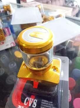 Tutup minyak rem model stempel transparan pcx adv suzuki barang baru