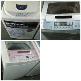 SECOND HAND USED WASHING MACHINE WITH 5 YEARS OF WARRANTY\FREEDELIVERY