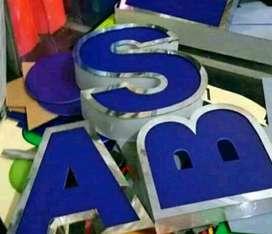 Letter Acrylic  timbul