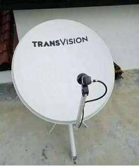 Parabola resmi Transvision Deli Serdang promo murah gratis pasang
