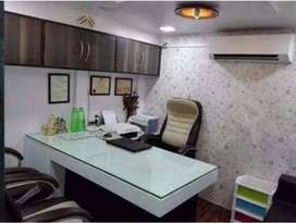 Furnished office space for rent in prime location of lake town