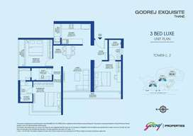 $Best ever location 3 BHK  Flat  for Sale  in  Kavesar, Thane West, G