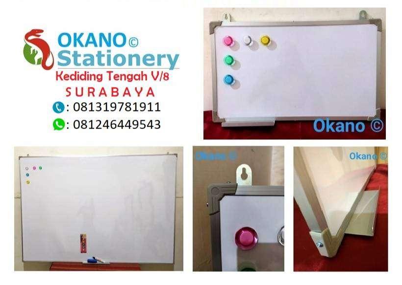 Papan Tulis Whiteboard Gantung 80 x 120 cm Magnet & non Magnet 0