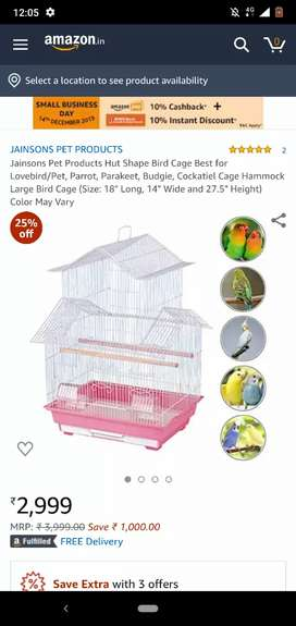 LARGE PET BIRD CAGE BRAND NEW