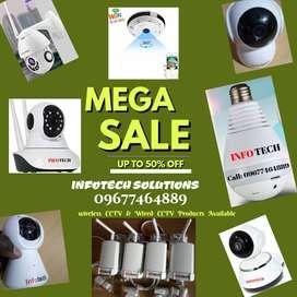 All Wifi CCTV- Dome Camera, Bullet Camera Bulb Camera Fish Eye Cameras