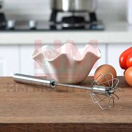 Stainless Steel Semi-automatic Egg Beater Whisker Mixture