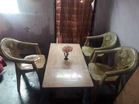 3 chair 1 tea table