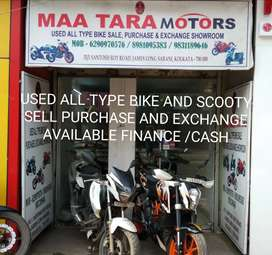 Finance available used bike and Scooty sell or exchange