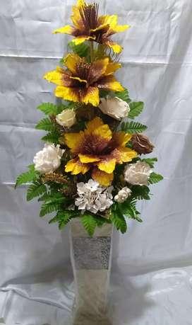 Bunga utk sudut ruangan klassik  tinggi 150 cm