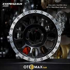 Velg Mobil Exepegasus JA329 Ring 16 Matt Black/M-Outer Lip
