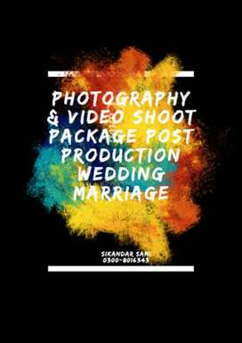 PHOTOGRAPHY & Video Shoot PACKAGE POST PRODUCTION Wedding Marriage