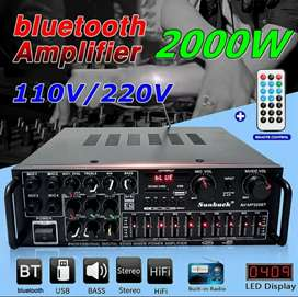 Bluetooth Amplifier support 4 mic + remote