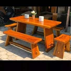Seat meja tusuk sate kayu suar furniture irawan sedjati mebel jepara