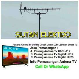 jasa pasang antena tv Uhf murah - gambar jernih