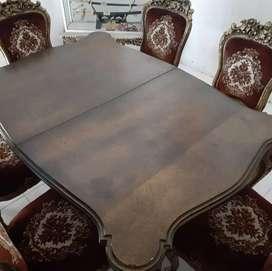 Kursi + meja makan kuno
