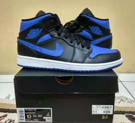 Termurah. Nike Air Jordan 1 Mid Royal Blue Original 100%