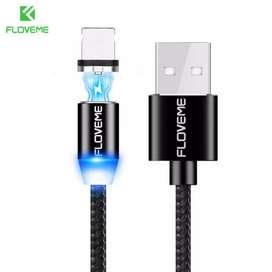 Kabel Charger Magnetic Micro USB 1 Meter-hitam