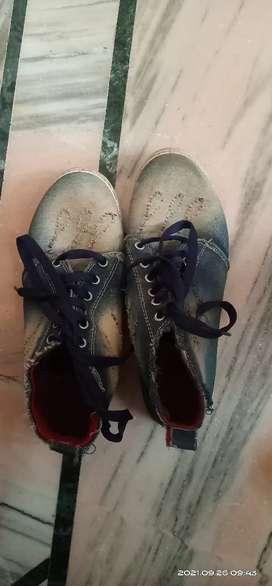 Mens Canvas Jeans Fabric Shoes 6UK