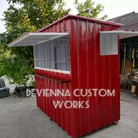 Booth Container coffee shop.booth jualan,booth Thai tea booth usaha