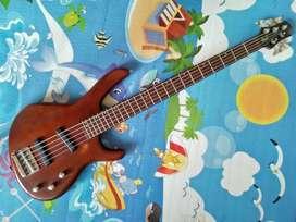 Bass Cort 5 String MII tahun 2000 Upgrade Pickup Bartolini USA