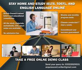 STAY HOME AND STUDY ONLINE - ENGLISH LANGUAGE, IELTS, and TOEFL
