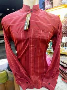 Baju koko/ taqwa. Polos motif. Lengan panjang kancing