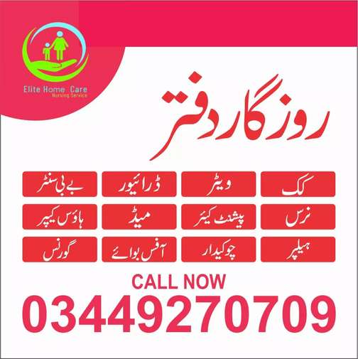 Required Maid, Cook, Patient Care, Nurse