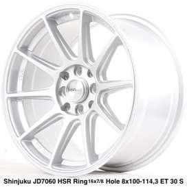 type motif SHINJUKU JD7060 HSR R16X7/8 H8X100-114,3 ET35/30 SILVER