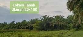 Dijual Cepat Tanah Ukuran 25x100 (6Hektar)