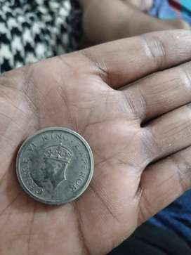 1947 One Rupee Coin