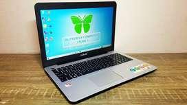 Laptop Desain Grafis Asus X555B AMD A9-9420 APU 3.00GHz Layar 15 Inch