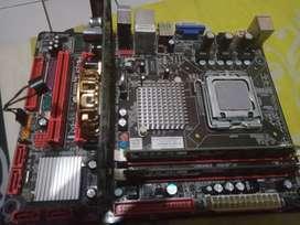 Mobo no display,VGA Nvidia 256/64+ram 1GB PC 5300&1GB PC 6400+procesor