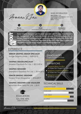 2d graphic designer and visualizer