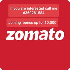 Zbr zomoto food delivery jobs IMMEDIATELY joining all over Bangalore